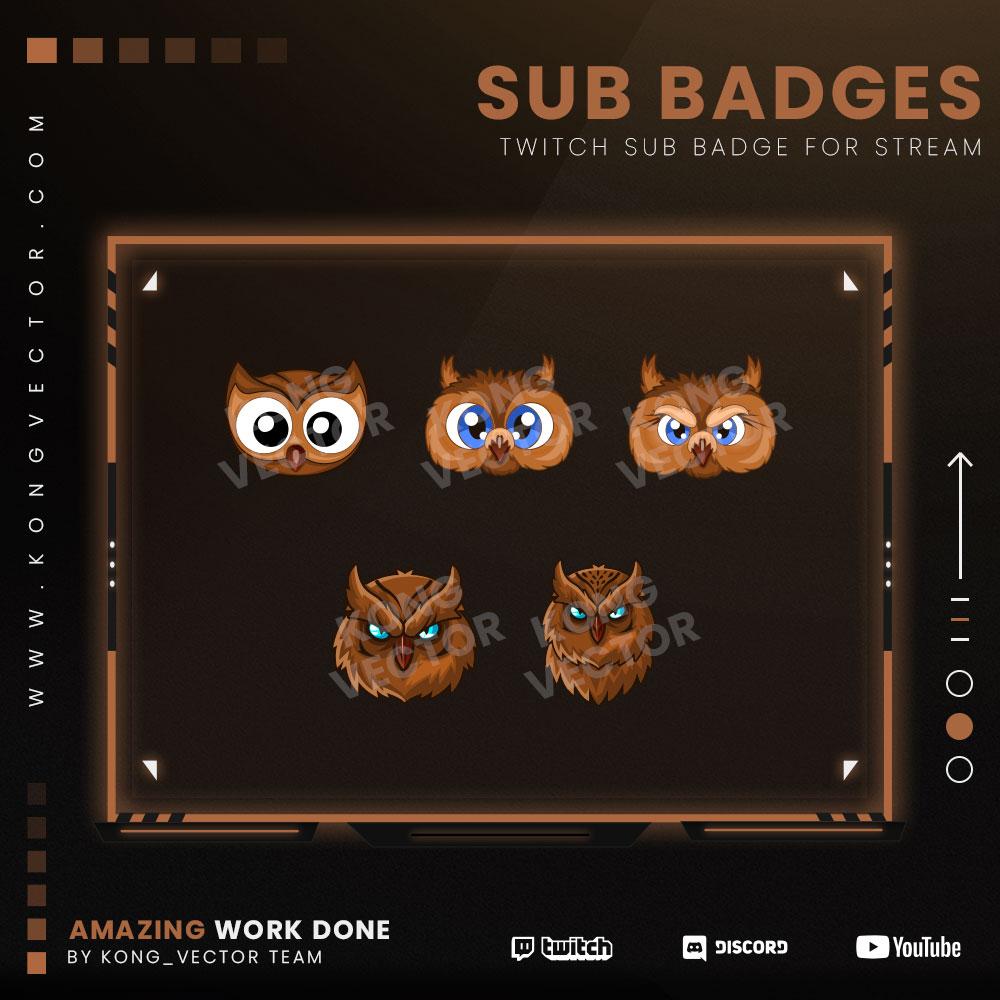 subbadge,preview1,owl,kongvector.com